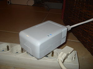 Plug computer - Marvell Technology Group's SheevaPlug plug computer in action