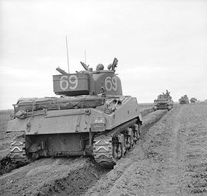 Northamptonshire Yeomanry - Sherman of 33 Armoured Operation Charnwood