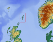 Shetland (boxed) with surrounding lands