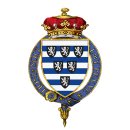 Shield of arms of Brownlow Cecil, 2nd Marquess of Exeter, KG, PC.png