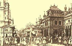 Boris Godunov (opera) - 'The House of Boris', design by Matvey Shishkov (1870)