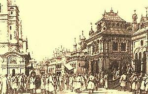 Boris Godunov (opera) - 'The House of Boris', design by Matvey Shishkov (1870)