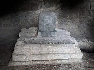 Elephanta Caves - Shiva linga in elephanta cave at west side