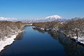 Shizukuishi River and Mount Iwate from Iwate Pref Road 293.jpg