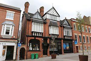 Richard Charles Sutton - Shops on Heathcote Street, Nottingham 1887