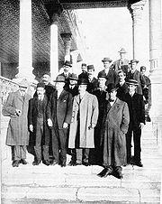 Morgan Shuster and American officials at Atabak Palace, Tehran, 1911.