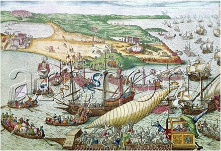 Conquest of Tunis by Charles V and liberation of Christian galley slaves in 1535 Siege de Tunis 1535.JPG