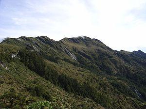 Xiangyang Mountain - Xiangyang main peak as seen in the way to Jiaming Hu.