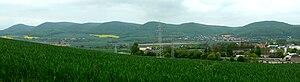 Sieben Berge - The Sieben Berge seen from the west