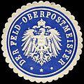 Siegelmarke Der Feld - Oberpostmeister W0228607.jpg