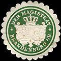 Siegelmarke Der Magistrat - Brandenburg an der Havel W0220164.jpg