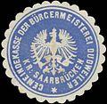 Siegelmarke Gemeindekasse der Bürgermeisterei Dudweiler Kreis Saarbrücken W0383091.jpg