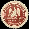 Siegelmarke Königlich Preussisches Husaren - Regiment von Schill (1. Schlesisches) No. 4 W0238407.jpg
