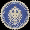 Siegelmarke K. Marine Kommando der II. Nordseevorpostenhalbflottille W0357569.jpg