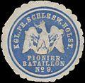 Siegelmarke Kgl. Pr. Schleswig Holsteiner Pionier Bataillon No. 9 W0338173.jpg