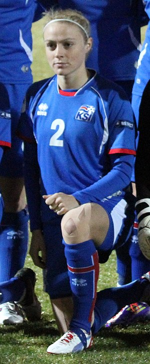 Sif Atladóttir - Before Iceland's Euro 2013 play-off against Ukraine in October 2012