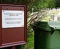Sign in graveyard of St Peter's Church, Over Wallop - geograph.org.uk - 472321.jpg