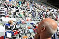 Sir Bobby Robson tributes at St James' Park, 5 August 2009 (3).jpg