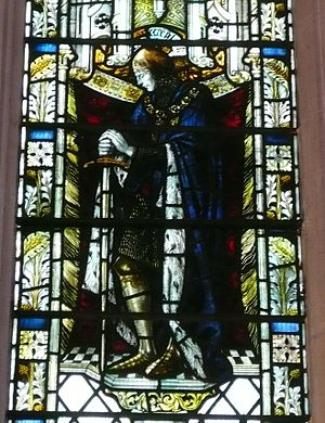 John Wenlock, 1st Baron Wenlock - Sir John Wenlock, as portrayed in stained glass window in the Wenlock chapel at St. Mary's Church, Luton.