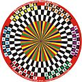 Six-player circular chess board with pieces.jpg