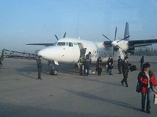 airport serving Shymkent in South Kazakhstan Province, Kazakhstan