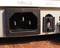 Skener UMAX PowerLook II, samice napájení a SCSI ID.JPG