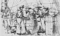 Sketch of the discovery of concealed gunpowder aboud merchantman Pelican 1119 x 667.jpg