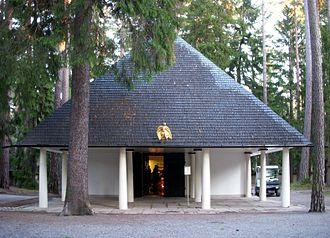 Skogskyrkogården - Skogskapellet cemetery chapel, designed by Gunnar Asplund