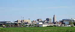 Skyline of Downtown Lincoln, Nebraska, U.S. (2015).jpg