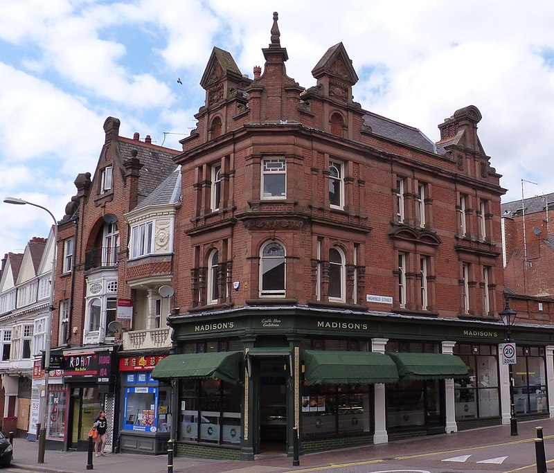 Smiths Shop building, London Road, Leicester by Wakerley 1888.JPG