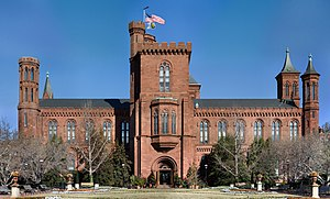 The Smithsonian Building in Washington D.C., U...