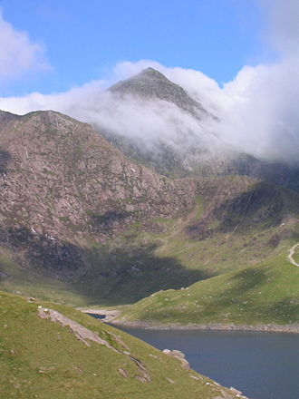 Geography of Wales - The summit of Snowdon, the highest mountain in Wales