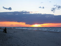 Sunset at Dranske beach