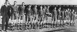 1921 South Africa rugby union tour of Australia and New Zealand - The South Africa rugby union side for their first ever Test match against New Zealand, at Carisbrook, Dunedin, 1921.