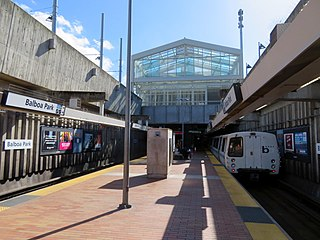 MUNI/BART Station in the southern San Francisco, California