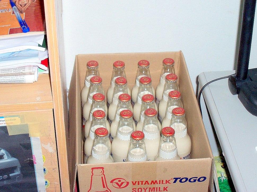 Soy milk bottles 3