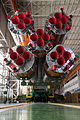 Soyuz TMA-10M rocket in the assembling facility (1).jpg