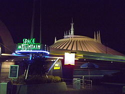 Space Mountain January 2012 Magic Kingdom Nighttime.JPG