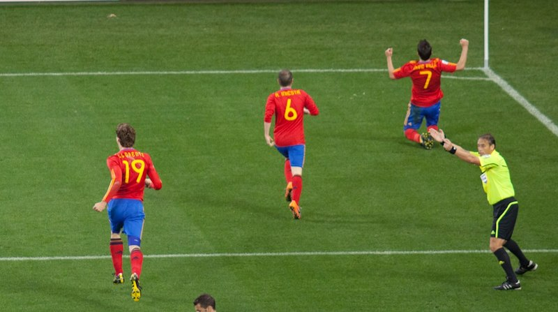 File:Spain and Portugal match at the FIFA  World Cup  2010-06-29.jpg