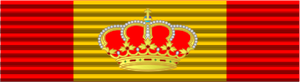 Pascual Cervera y Topete - Image: Spanish Grand Cross of Naval Merit Ribbon