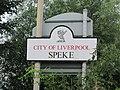 Speke sign on Hale Road, Liverpool.JPG