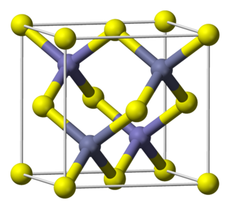 Zinc sulfide - Sphalerite, the more common polymorph of zinc sulfide