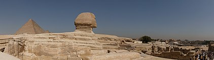 Sphinx and the Great Pyramid of Giza panorama.jpg
