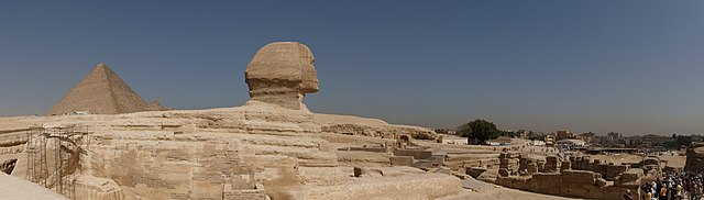 Sphinx and the Great Pyramid of Giza panorama