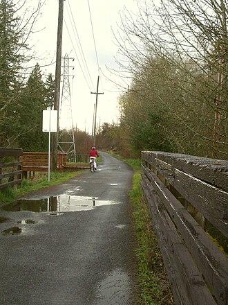 Springwater Corridor - Image: Springwater trail SE 41st westbound P2149