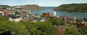 veiw looking east of St. John's, Newfoundland