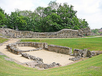 Pontefract Castle - The ruins of St Clement's Chapel within the castle