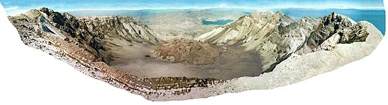 Mount S:t Helen-panorama. Collage Daniel Mayer