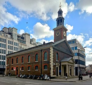 St Peter, Vere Street - Image: St Peter's Church, Vere Street Dec 2016