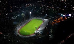 A stadium photographed by unmanned aerial vehicle
